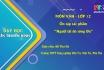 Môn Ngữ Văn lớp 12 - Ôn tập tác phẩm Người lái đò Sông Đà