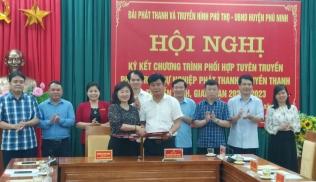 Hội nghị ký kết chương trình Phối hợp tuyên truyền giữa Đài Phát thanh và Truyền hình tỉnh với huyện Phù Ninh giai đoạn 2021-2023