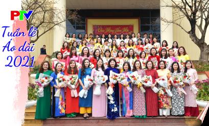 Nữ cán bộ viên chức - lao động PTV hưởng ứng tuần lễ Áo dài 2021