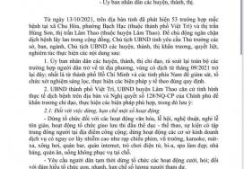 Văn bản của UBND tỉnh Phú Thọ về việc khẩn trương thực hiện các biện pháp để chủ động ngăn chặn dịch bệnh Covid-19 lây lan trong cộng đồng