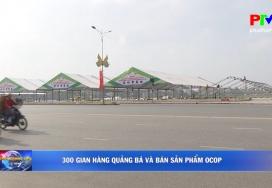 300 gian hàng quảng bá và bán sản phẩm OCOP