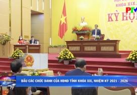 Bầu các chức danh của HĐND tỉnh khóa XIX, nhiệm kỳ 2021 - 2026