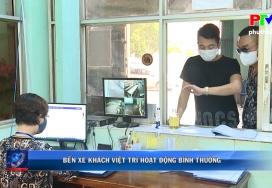 Bến xe khách Việt Trì hoạt động bình thường