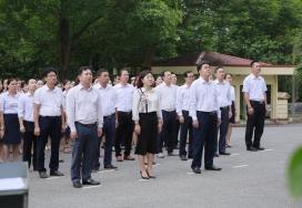 Chào cờ tháng 7, Chúc mừng sinh nhật cán bộ, viên chức lao động có ngày sinh trong tháng 7 và trao giải Khuyến khích giải Báo chí tỉnh Phú Thọ 2021
