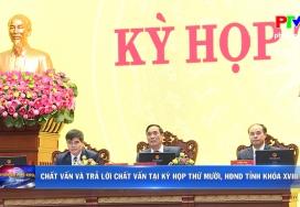 Chất vấn và trả lời chất vấn tại kỳ họp thứ Mười, HĐND tỉnh khóa XVIII