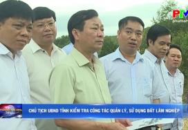Chủ tịch UBND tỉnh kiểm tra công tác quản lý, sử dụng đất lâm nghiệp