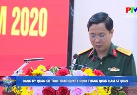 Đảng ủy Quân sự tỉnh trao quyết định thăng quân hàm sĩ quan