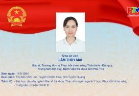Chương trình hành động của bà Lâm Thùy Mai