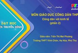 Môn GDCD lớp 12 - Công dân với kinh tế P2