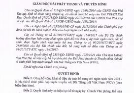 Quyết định về việc công khai dự toán bổ sung chi ngân sách năm 2021 - Kinh phí tổ chức phối hợp tuyên truyền với đài tiếng nói Việt Nam VOV