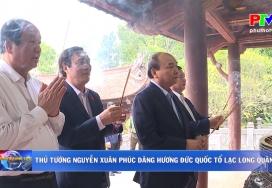 Thủ tướng Nguyễn Xuân Phúc dâng hương Đức Quốc Tổ Lạc Long Quân