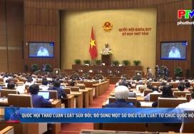 Quốc hội thảo luận luật sửa đổi, bổ sung một số điều của Luật tổ chức Quốc hội