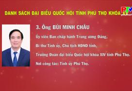 Danh sách đại biểu Quốc hội tỉnh Phú Thọ khóa XV