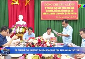 Bộ trưởng, Chủ nhiệm ủy ban dân tộc làm việc tại Ban dân tộc tỉnh