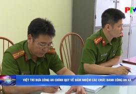Việt Trì đưa công an chính quy về đảm nhiệm các chức danh công an xã
