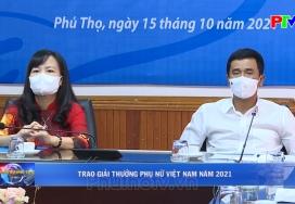 Trao giải thưởng Phụ nữ Việt Nam năm 2021