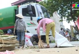 Xây dựng nông thôn mới - Thu gom rác thải nông thôn