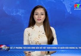 Xử lý phương tiện dán hình bản đồ Việt Nam không có quần đảo Hoàng Sa, Trường Sa