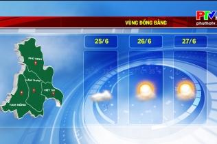 Dự báo thời tiết ngày 24-6-2021
