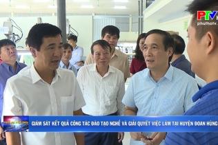 Giám sát kết quả công tác đào tạo nghề và giải quyết việc làm tại huyện Đoan Hùng