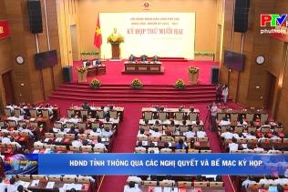 HĐND Tỉnh thông qua các nghị quyết và Bế mạc kỳ họp