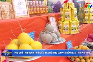 Phó Chủ tịch UBND tỉnh kiểm tra hội chợ OCOP và nông sản tỉnh Phú Thọ