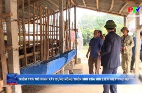 Kiểm tra mô hình xây dựng nông thôn mới của Hội liên hiệp phụ nữ