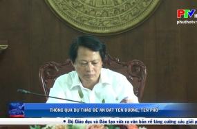 Việt Trì thông qua dự thảo đề án đặt tên đường, tên phố